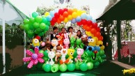 Balloon arch Zodiac theme