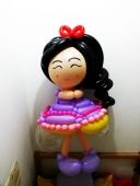 Korean balloon princess doll sculpture