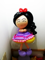 Korean balloon princess doll sculpture
