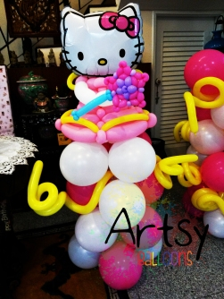 Hello Kitty Themed balloon columns decoration(1)