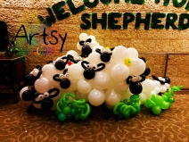 Herd of balloon sheeps