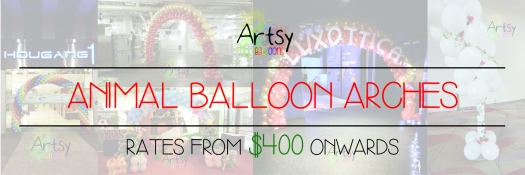 Animal balloon arch banner