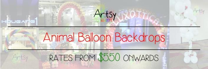 Animal balloon backdrop banner singapore