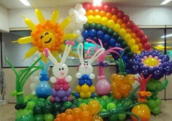 Balloon backdrop decoration (2)