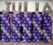 Balloon Columns with name Balloon Decoration