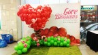 3D giant balloon heart display for a local shopping mall!