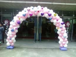 Hearts and love balloon arch for wedding balloon decorations