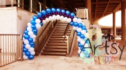 Before adding anything to this balloon arch