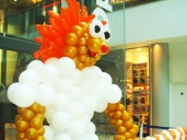 Gigantic lion balloon sculpture. It can be as big as you want it to be!