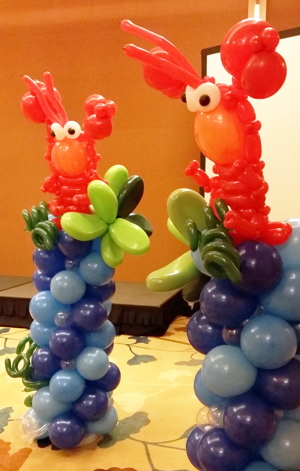 Balloon columns artsyballoons advance balloon for Balloon decoration course