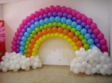 Fully customised rainbow arch that really looks like a rainbow.
