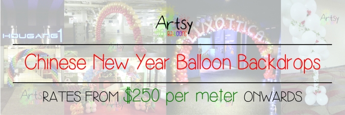 Chinese new year balloon arch banner
