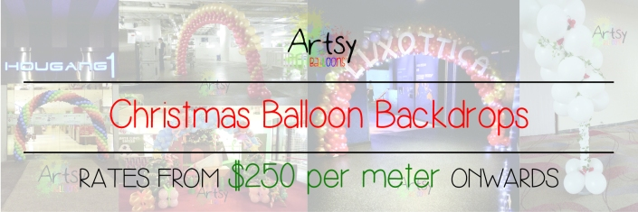 Christmas balloon backdrop banner singapore