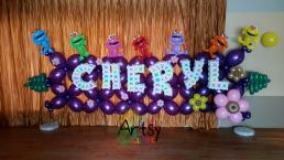 DId this backdrop for my friend's 21st birthday!