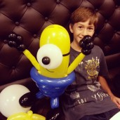 Did a gun and a balloon minion for this boy! Minions are really a hot favourite!