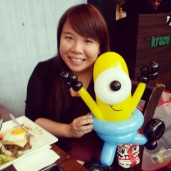 First customer of the day! Asked for a minion! :D
