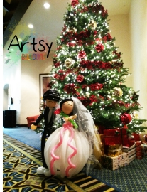 Life-size balloon wedding couple display decoration(1)