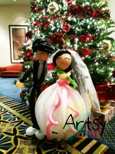 Life-size balloon wedding couple display decoration(2)