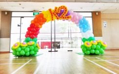 balloon rainbow balloon arch decoration for K2!