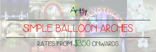 Simple balloon arch banner