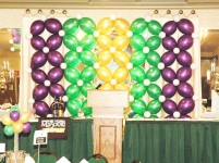 A simple balloon backdrop that guest can take photos with. Simple yet beautiful.