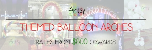 Themed balloon arch banner