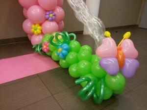 , Balloon Fantasy Princess Castle Backdrop for a beautiful princess girl!, Singapore Balloon Decoration Services - Balloon Workshop and Balloon Sculpting