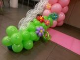 Her small balloon garden