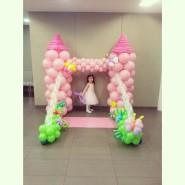 Princess castle backdrop for this little princess