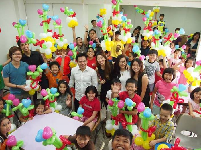 , Balloon workshop for a group of cute children!, Singapore Balloon Decoration Services - Balloon Workshop and Balloon Sculpting