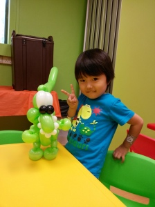 , Balloon Sculpting at a local playhouse!, Singapore Balloon Decoration Services - Balloon Workshop and Balloon Sculpting