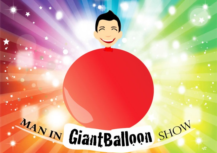 man in giant balloon