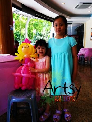 a special balloon princess for a cute birthday girl.