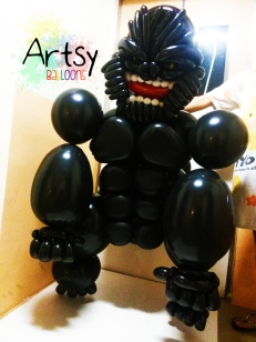 Balloon King Kong Gorilla Life Size Sculpture 2
