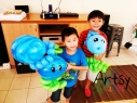 Balloon Sculpting Singapore for birthday parties and events plants VS zombies