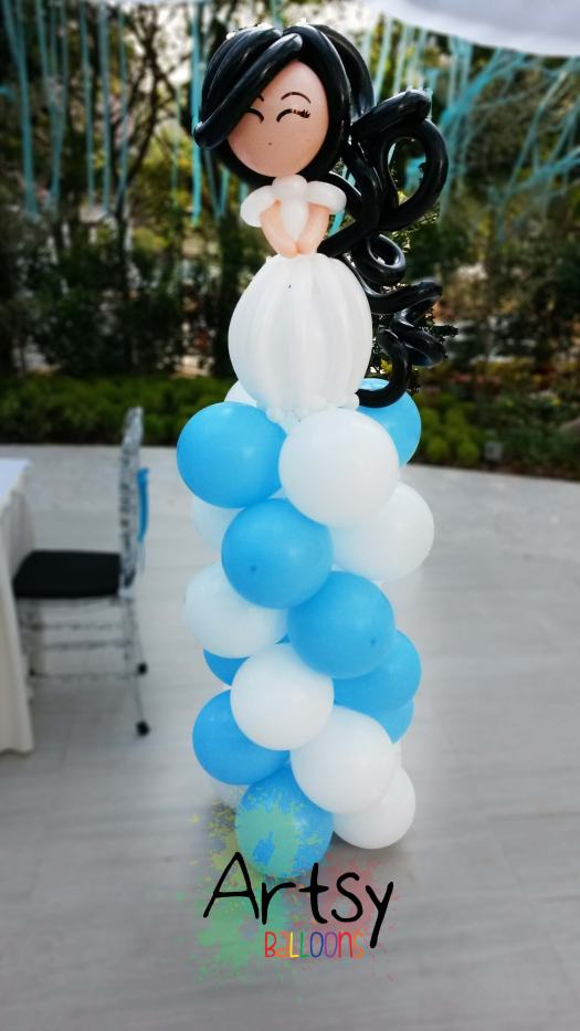 A pair of wedding balloon couple balloon column decoration (3)