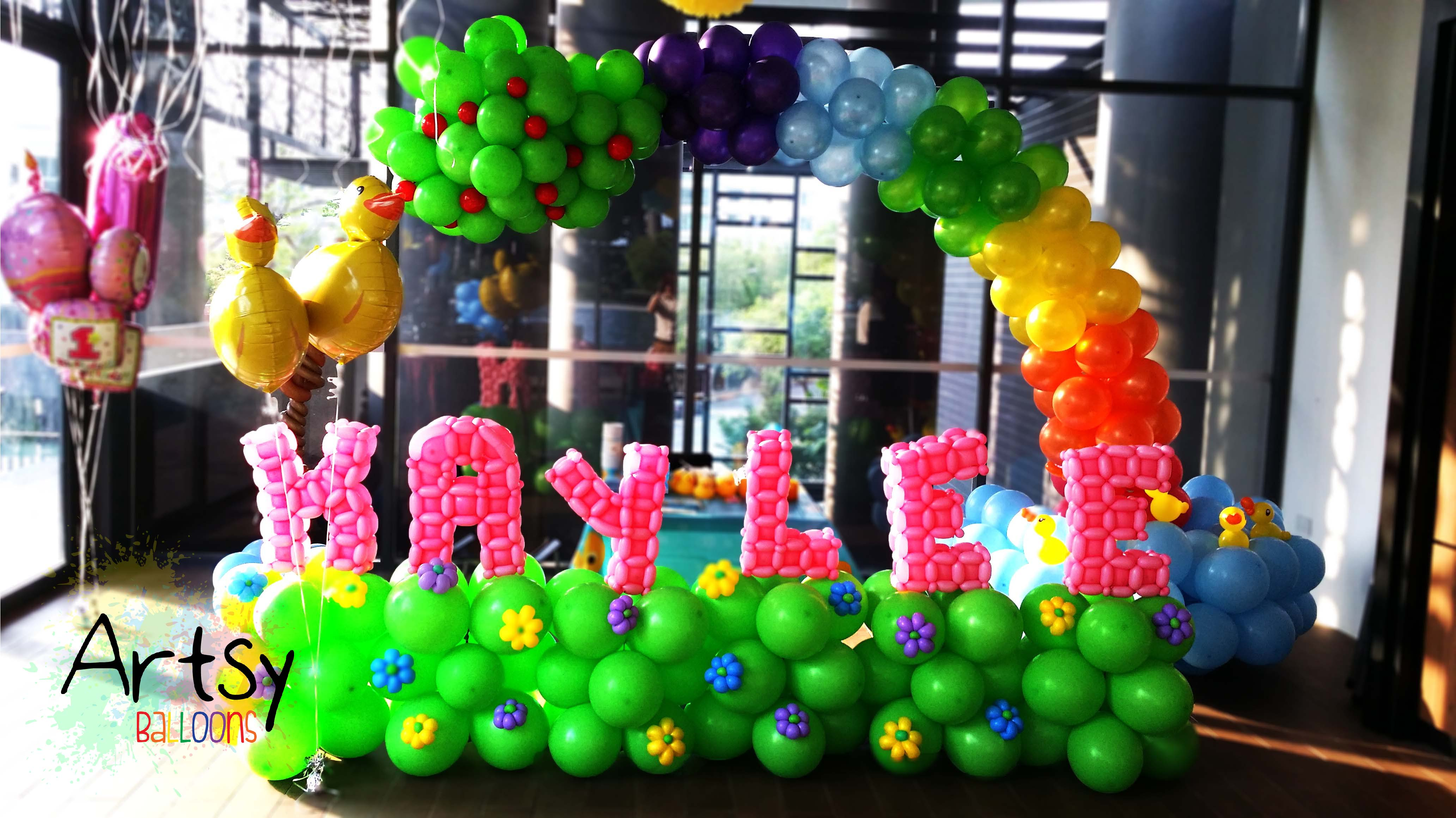 Fully Customised Balloon Backdrop Arch with Advance Letterings