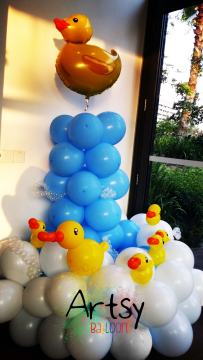 Fully Customised Balloon duck themed Columns