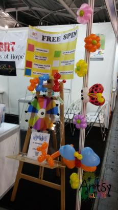 Garden and insect balloon theme decoration (4)