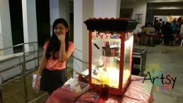 Girl doing popcorn
