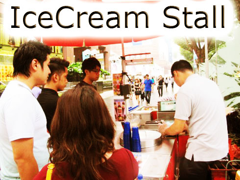 ice cream stall for rent