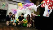Life sized balloon unicorn balloon decoration