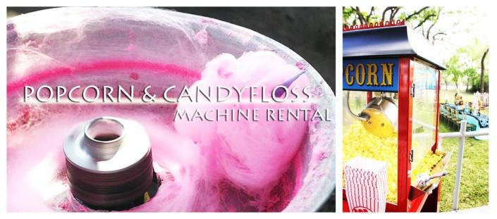 popcorn and candyfloss machine rental