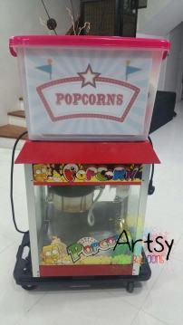 Popcorn machine on trolley