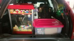 Popcorn machine ready to go for event