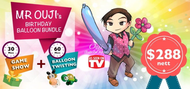 , Birthday Party Showtime!, Singapore Balloon Decoration Services - Balloon Workshop and Balloon Sculpting