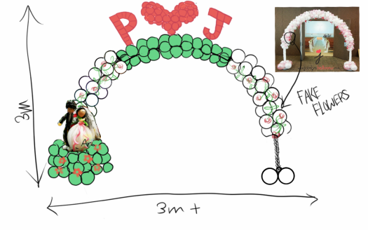 Wedding arch drawing proposal