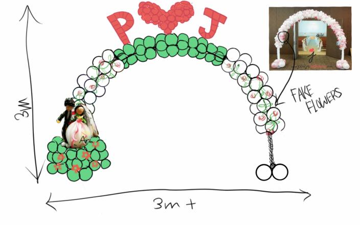 Wedding arch drawing proposal