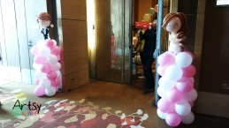 Simple weddng balloon columns