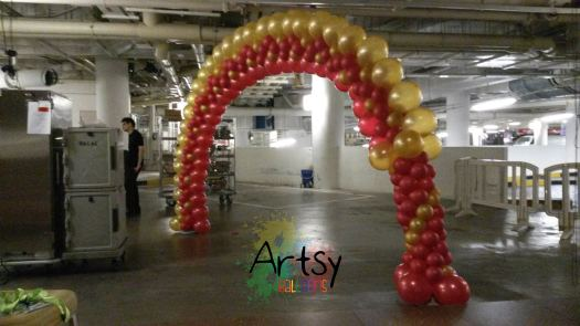 "Thisi is a different style of balloon arch that use a technique of balloon placement called ""Balloon Illusion arch technique"""